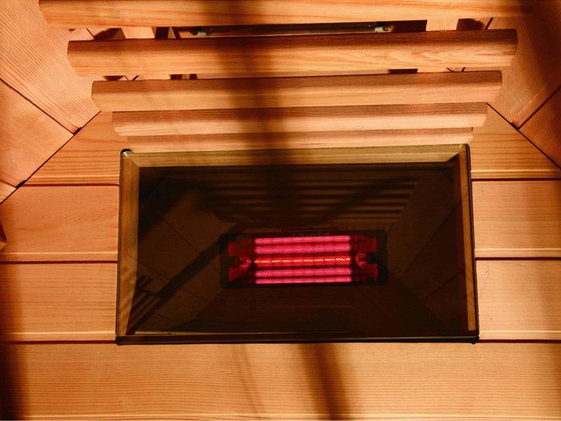 инфракрасная сауна KOY 03-k1 - нагреватель под полкой
