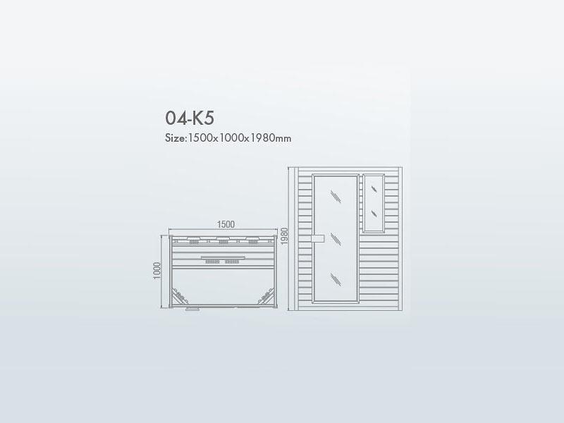 инфракрасная сауна KOY 04-k5 схема