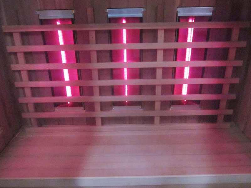 инфракрасная сауна KOY 04-k71 нагреватели на задней стенке