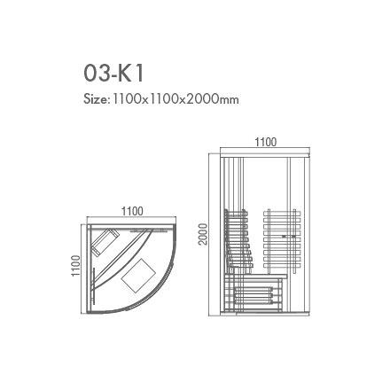 инфракрасная сауна KOY 03-k1 схема