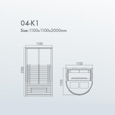 инфракрасная сауна KOY 04-k1 схема